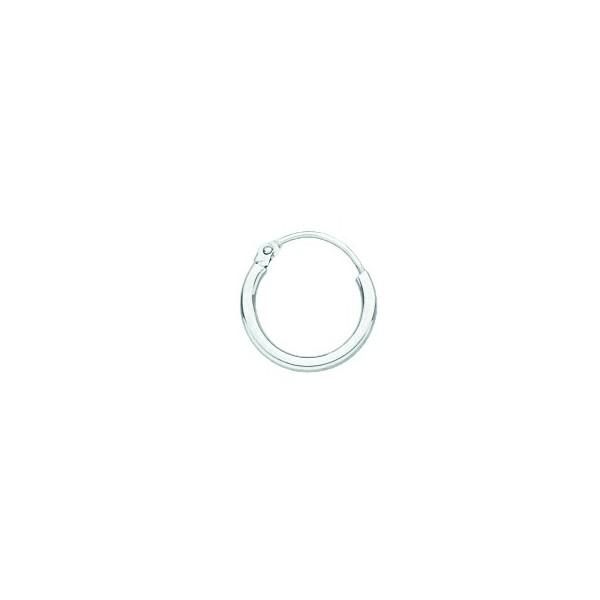 Créoles Or blanc 750/1000e fil 1,5mm diametre 12mm 0.50grs