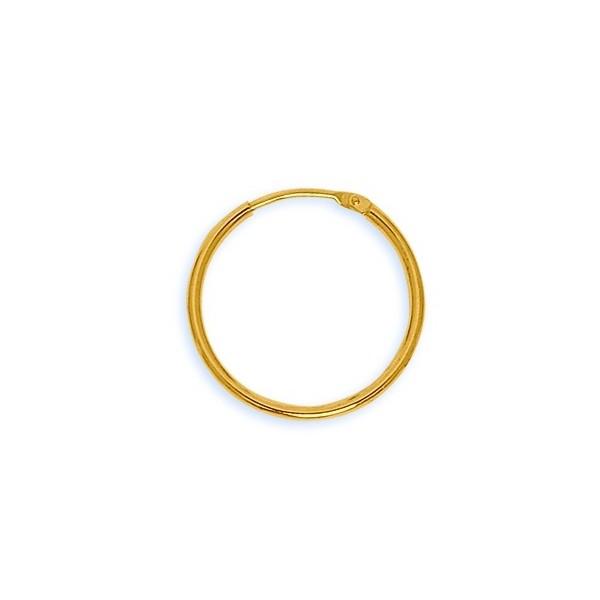 Créoles Or 750/1000e fil 1,5mm diametre 20mm 0.90grs