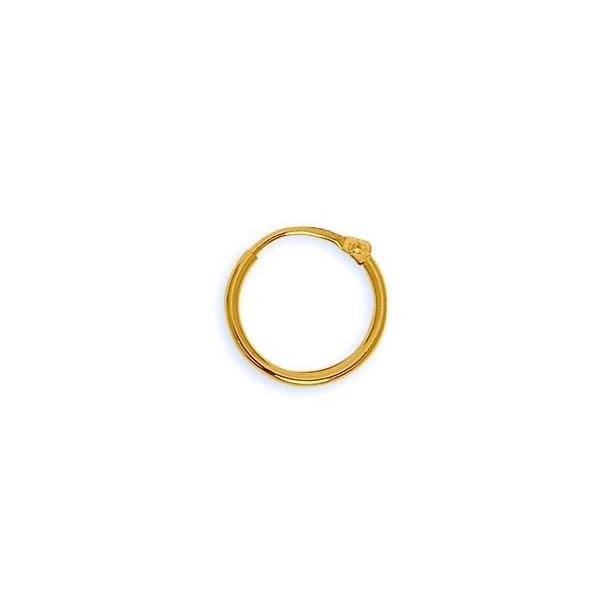 Créoles Or 750/1000e fil 1,5mm diametre 14mm 0.60grs