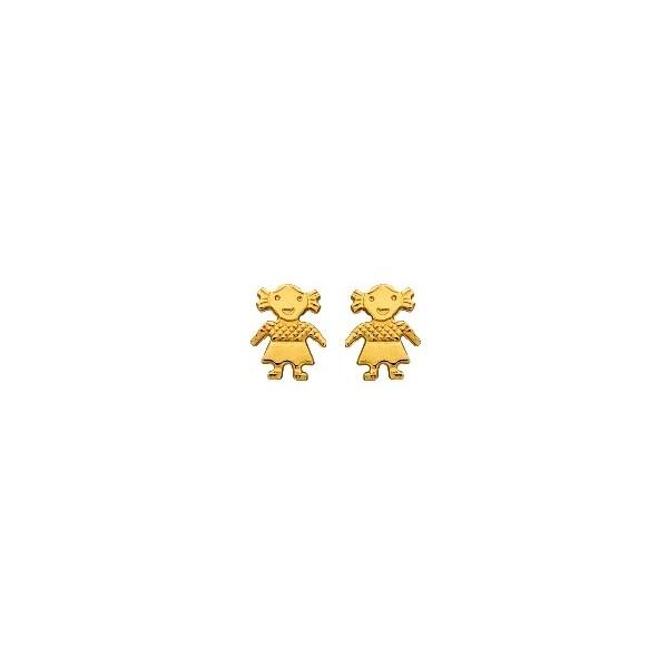 Boucles d'oreilles or750/1000e 0.55grs
