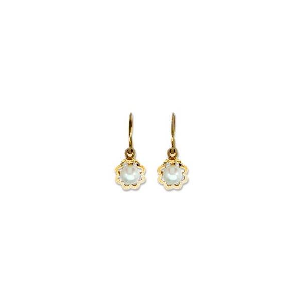 Boucles d'oreilles OR 750/1000e perles de culture 0.65grs