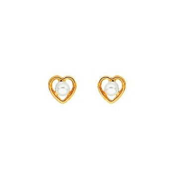 Boucles d'oreilles OR 750/1000e perles de culture 0.35grs