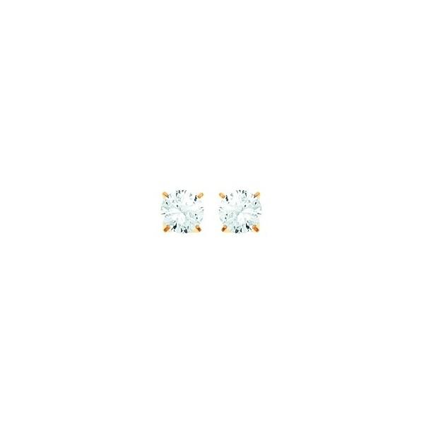 Boucles d'oreilles OR 750/1000e oxydes zirconium D.5mm 0.50grs