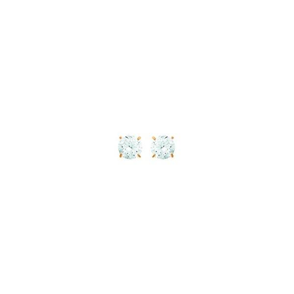Boucles d'oreilles OR 750/1000e oxydes zirconium D.4mm 0.40grs