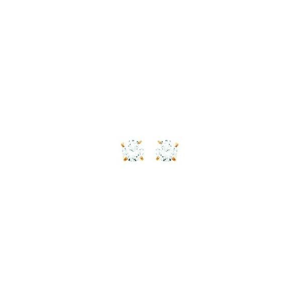 Boucles d'oreilles OR 750/1000e oxydes zirconium D.3.5mm 0.35grs