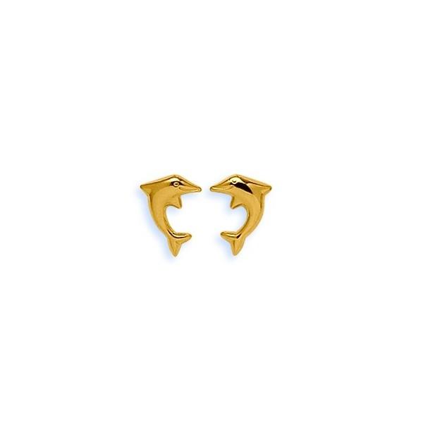 Boucles d'oreilles OR 750/1000e dauphins 0.55grs