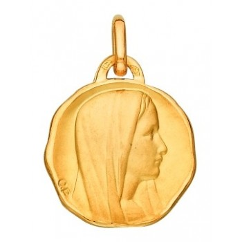 Médaille vierge or 750/1000e  ronde 19mm 3.65grs