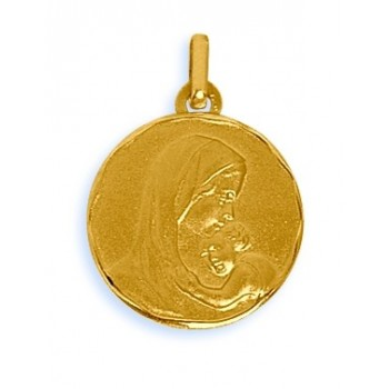 Médaille vierge or 750/1000e  ronde 18mm 2.00grs