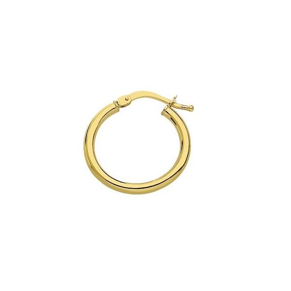 Créoles Or 750/1000e fil 2mm diametre 14mm 1.10grs