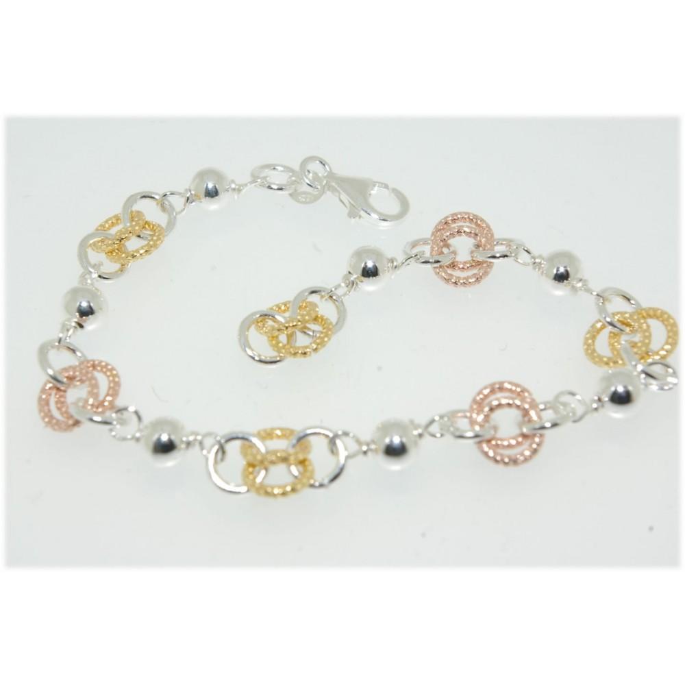 bracelet boule et anneau bicolore d 39 or et d 39 argent. Black Bedroom Furniture Sets. Home Design Ideas