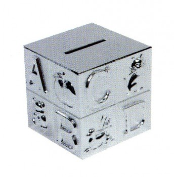 Tirelire cube ABC