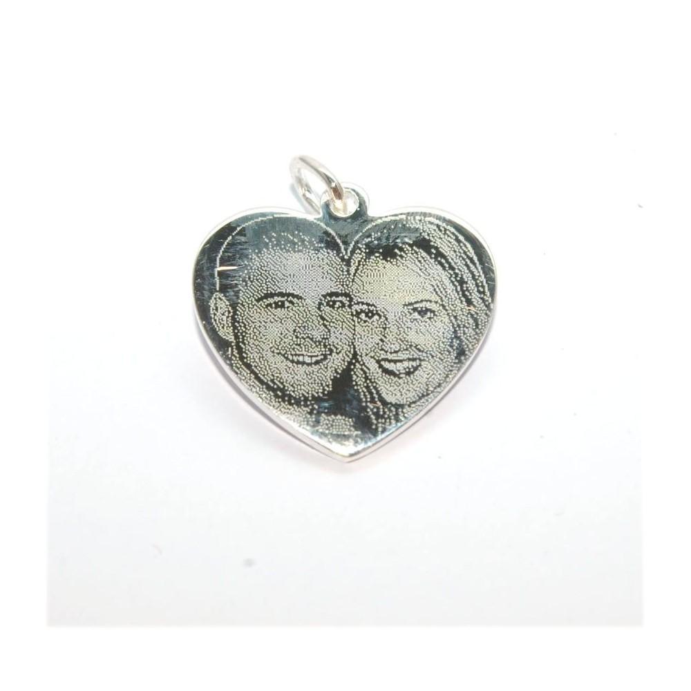 7eaadcffc4cad7 Pendentif coeur argent avec deux photogravures comprises - D Or et d ...