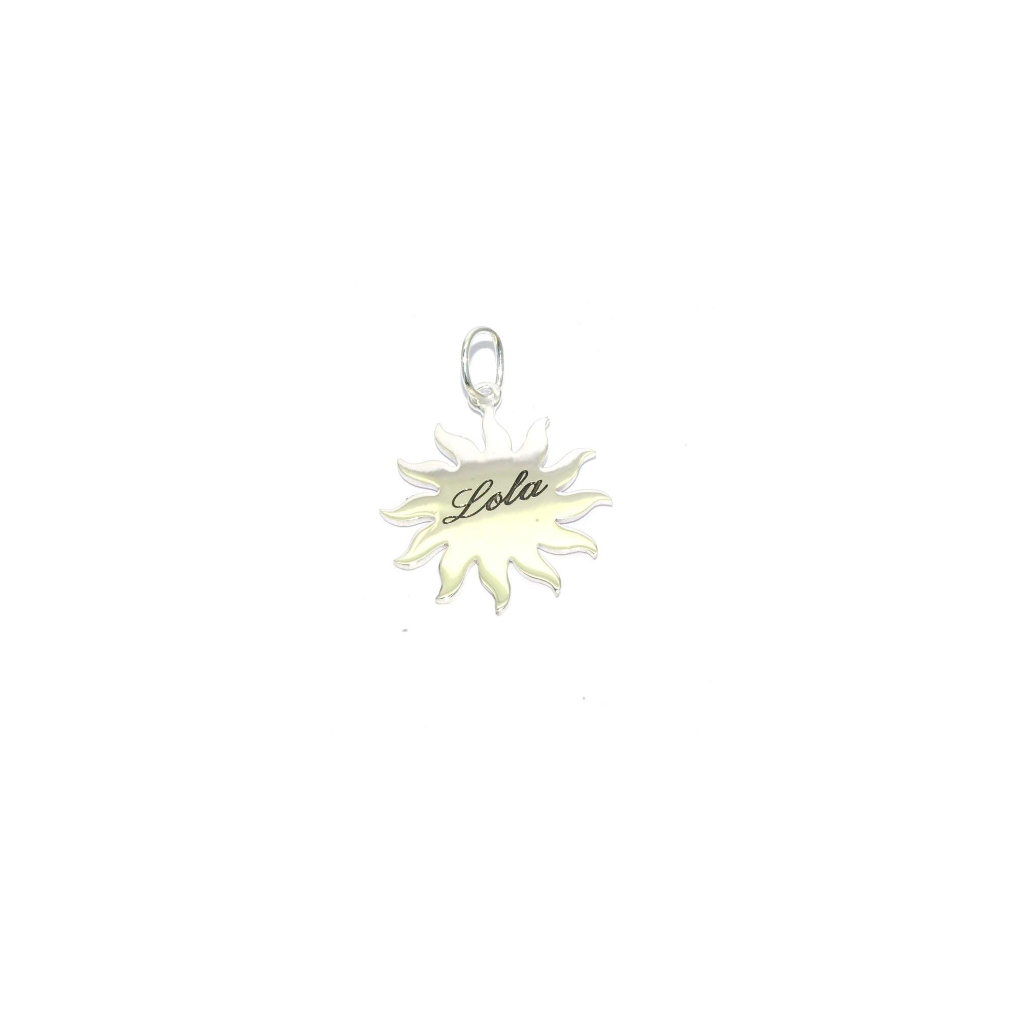 détaillant en ligne 0bcd6 62cf2 Pendentif soleil argent gravure comprise