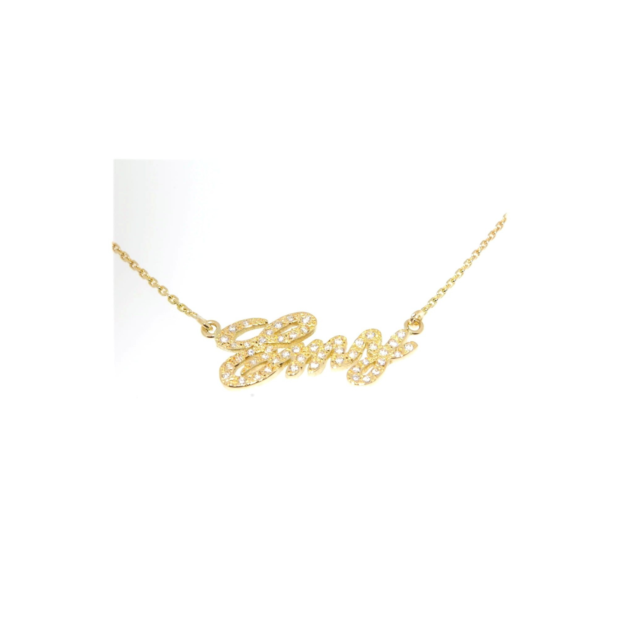 collier prenom diamant