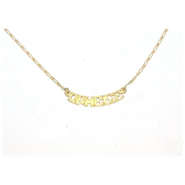Collier prénom or 750/1000e chaîne figaro 40cm 4grs prénom au choix