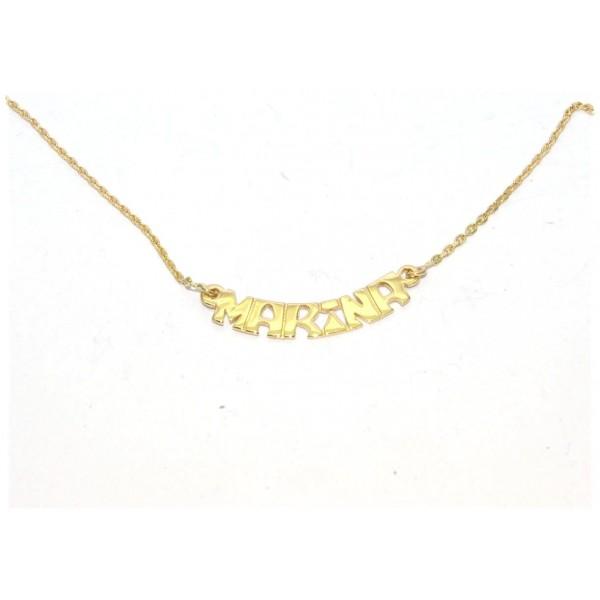 Collier prénom or 750/1000e chaîne forçat 40cm 4.20grs prénom au choix