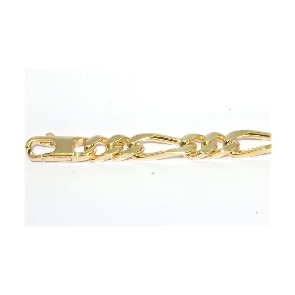 Bracelet plaque or 21 cm