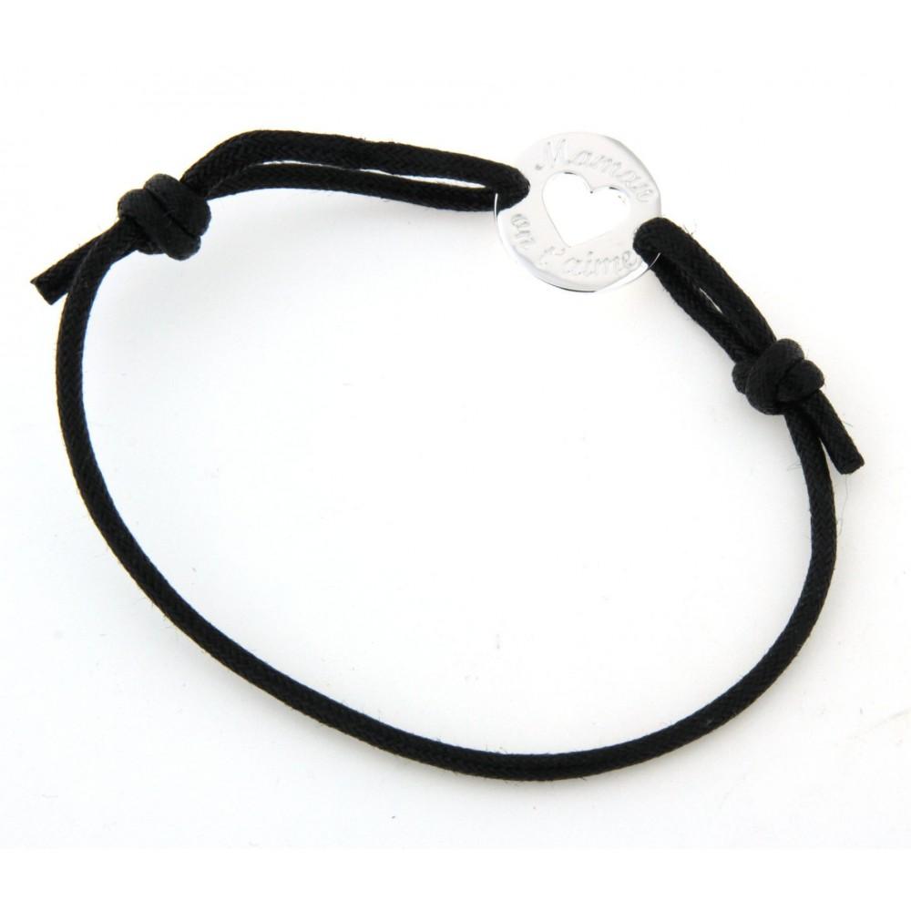 bracelet cordon maman on t 39 aime d 39 or et d 39 argent. Black Bedroom Furniture Sets. Home Design Ideas