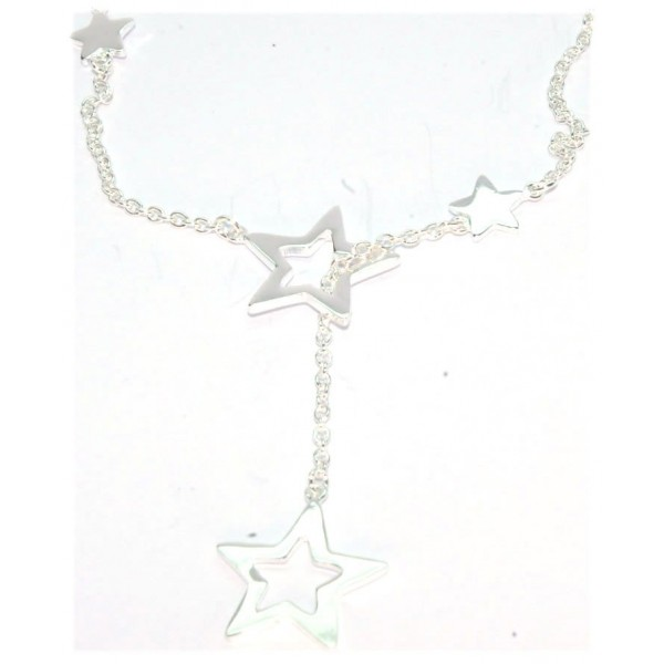 Collier argent avec motifs étoiles 45cm  5.70grs