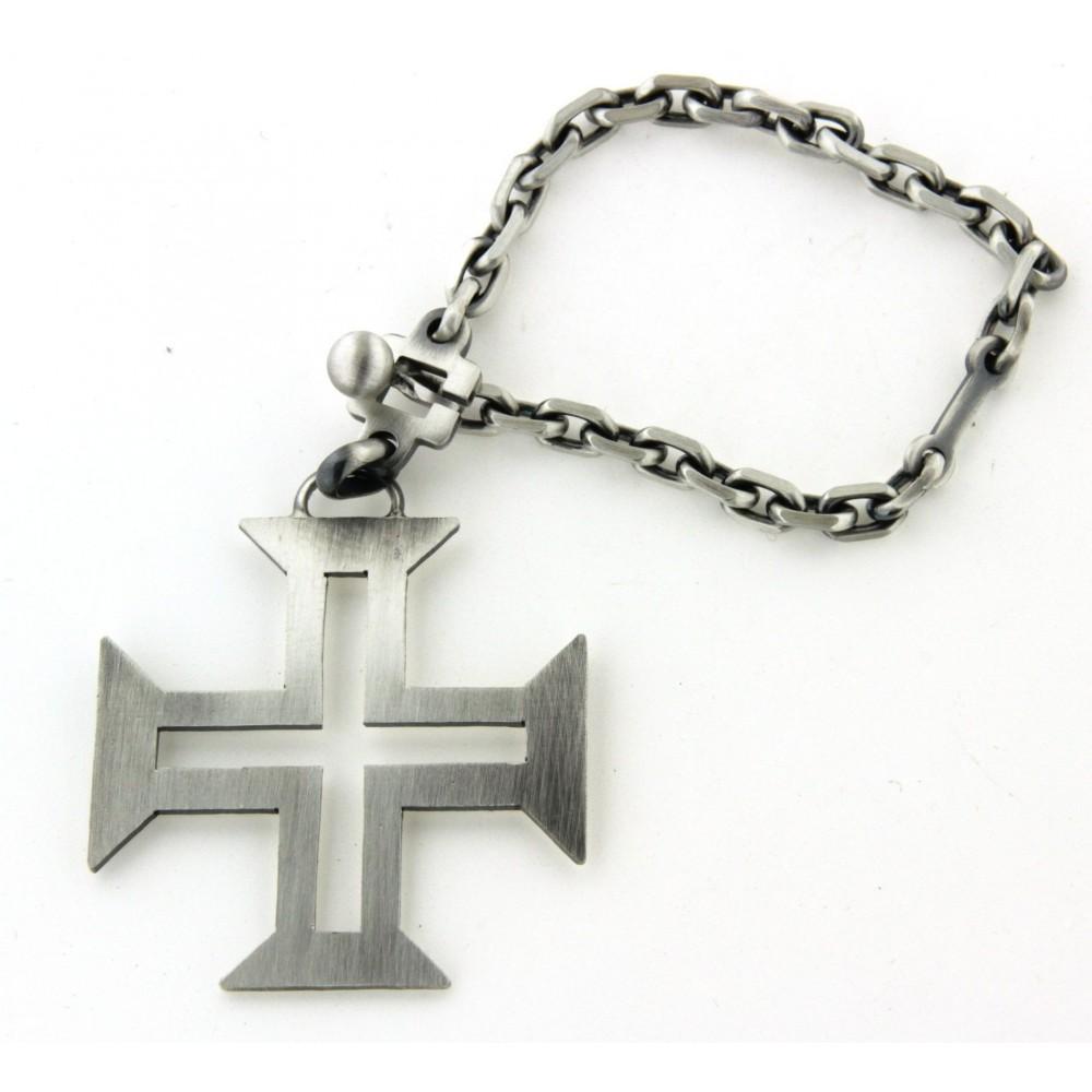 Porte  clés croix portugaise - D Or et d Argent a63fbd50dfb