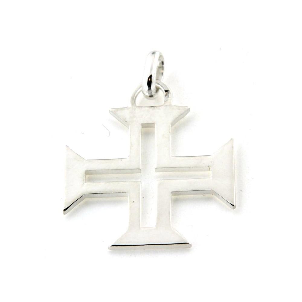 Pendentif argent croix portugaise - D Or et d Argent bfb78194cac