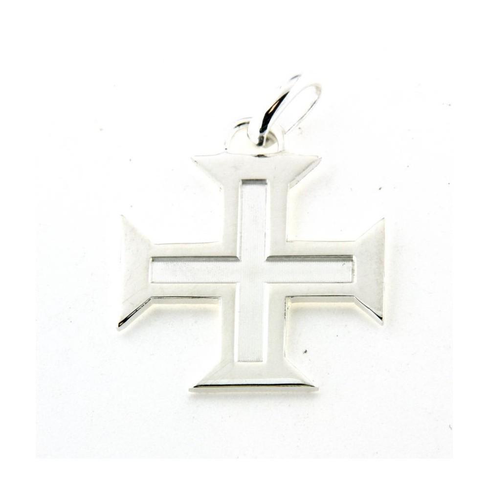 Pendentif argent croix portugaise découpée - D Or et d Argent c412f9570d4