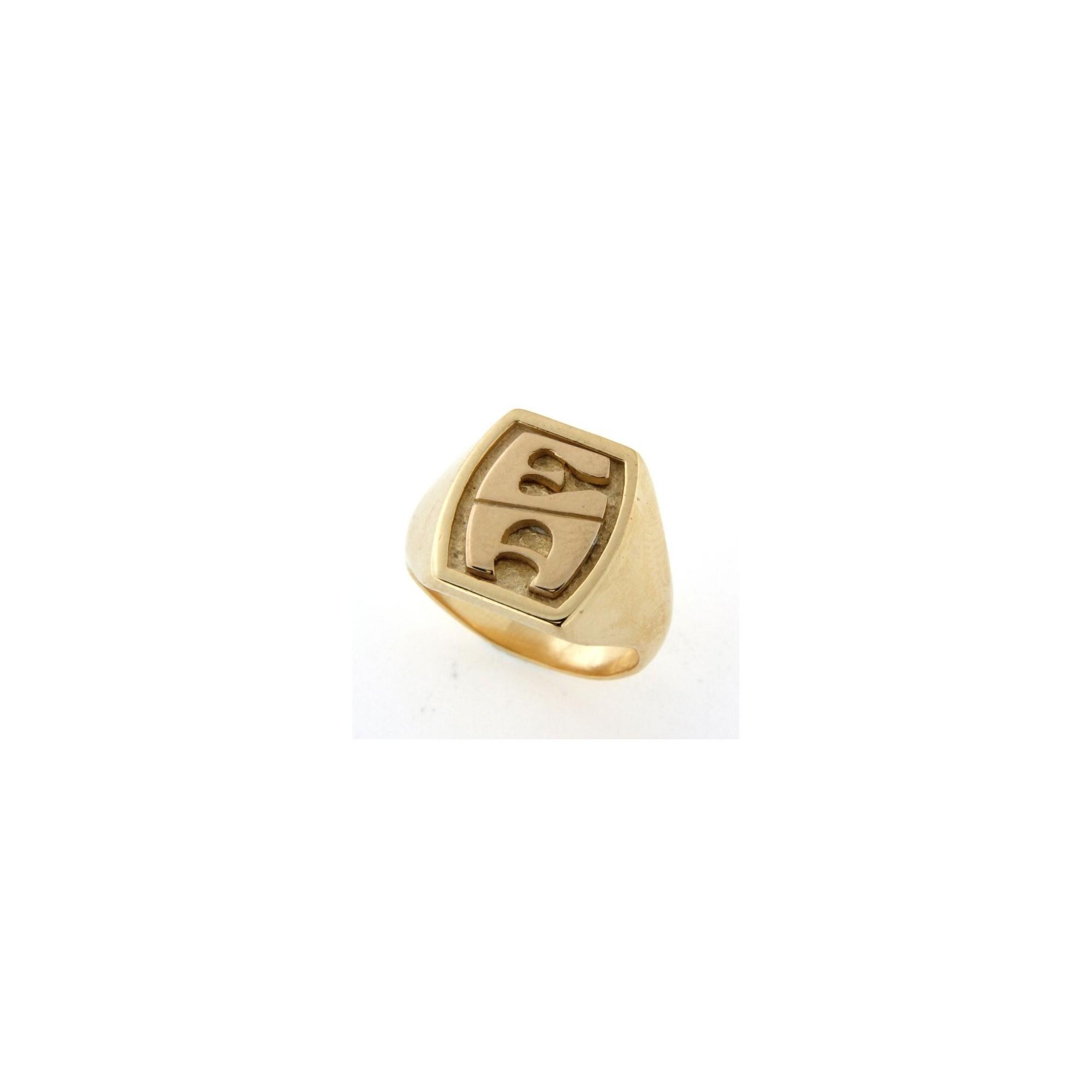 plus récent c8ad1 9ab21 Chevalière en plaqué or avec initiales
