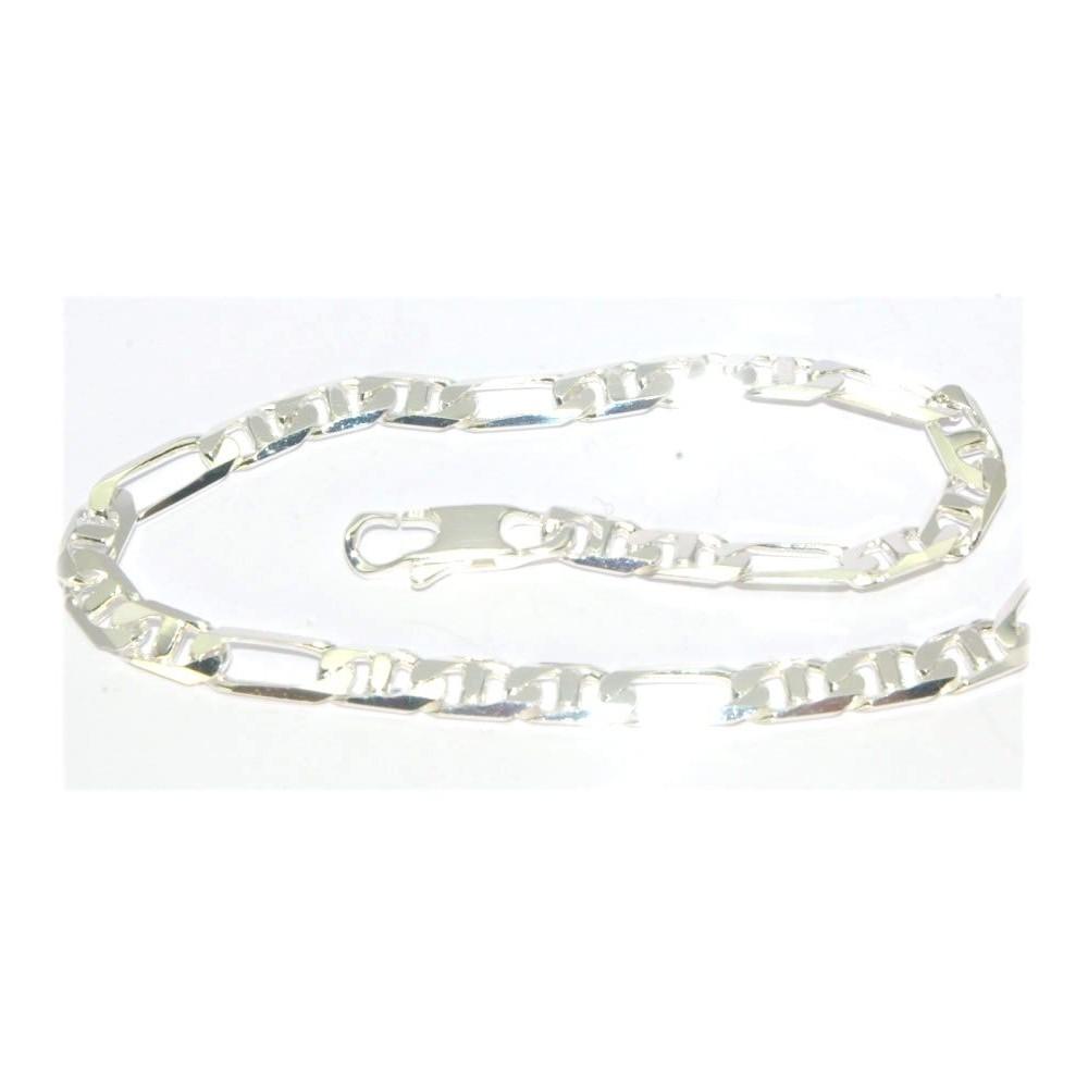 bracelet argent maille marine diamant e d 39 or et d 39 argent. Black Bedroom Furniture Sets. Home Design Ideas