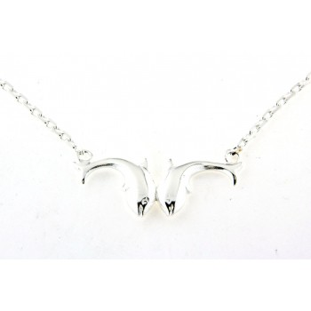 Collier argent dauphins