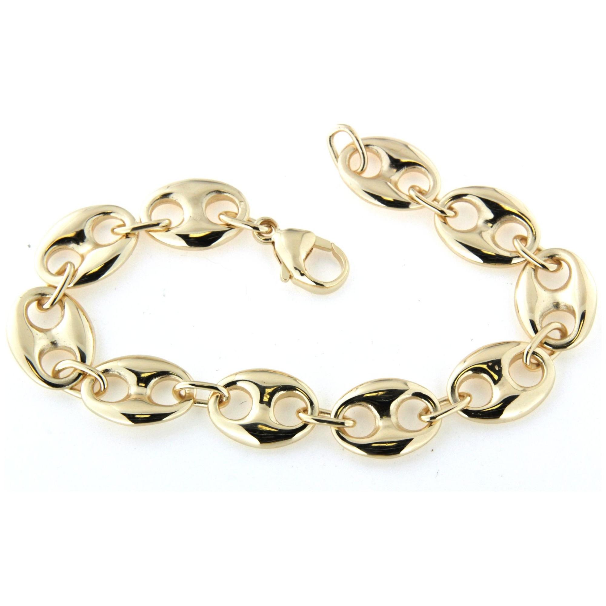 détaillant en ligne af099 de7ef Bracelet grain de café plaqué or