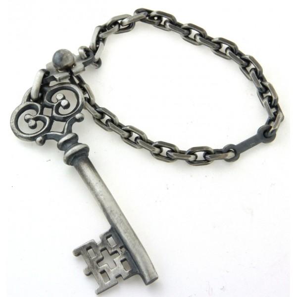 Porte clés en argent