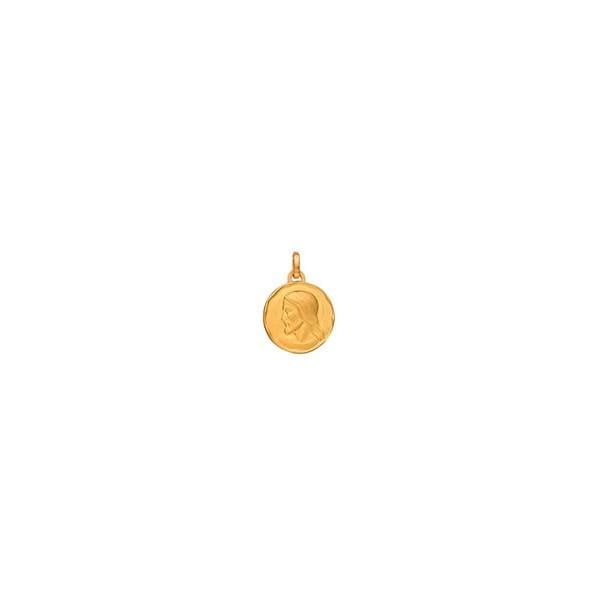 Médaille ronde Christ en or