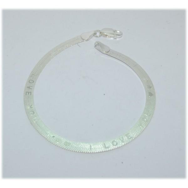 Bracelet argent  925/1000e i love you largeur 4mm longueur 18cm 4.20grs