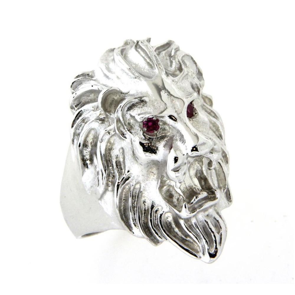 chevali re argent yeux rouges grosse t te de lion d 39 or et d 39 argent. Black Bedroom Furniture Sets. Home Design Ideas