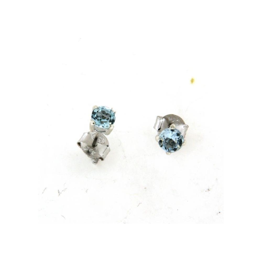 boucles d oreilles avec topaze bleue d 39 or et d 39 argent