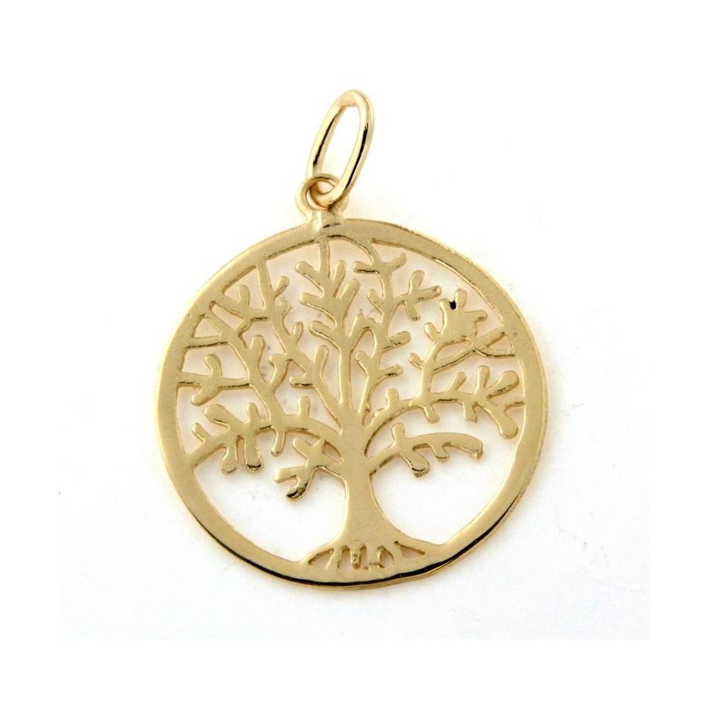 682df351989 Pendentif rond arbre de vie - D Or et d Argent