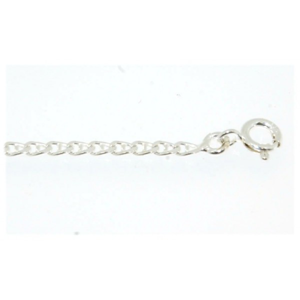 Chaine argent maille barrette