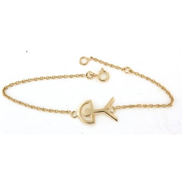 Bracelet indalo en plaqué or