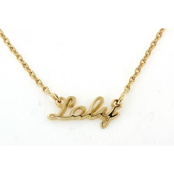 Collier prénom petit modèle en plaqué or