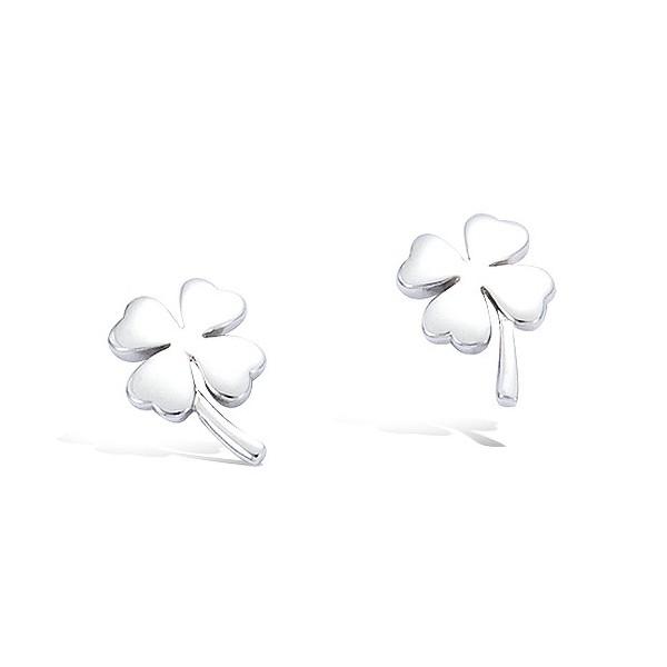 Boucles d'oreilles trèfle en argent