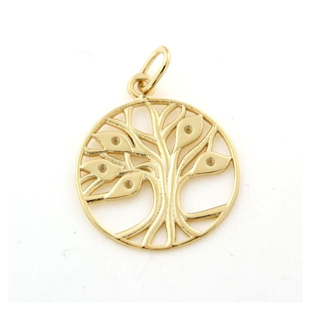 da05c8ef93b Pendentif arbre de vie en plaqué or - D Or et d Argent