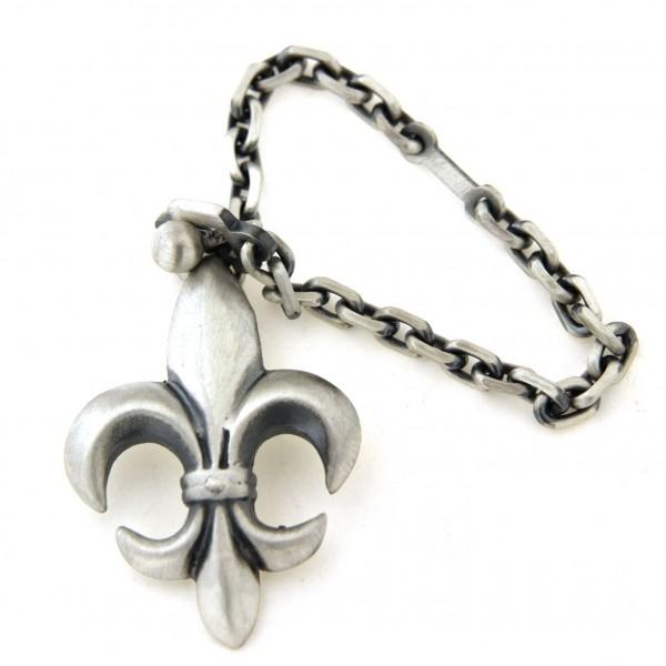 Porte clés fleur de Lys en argent