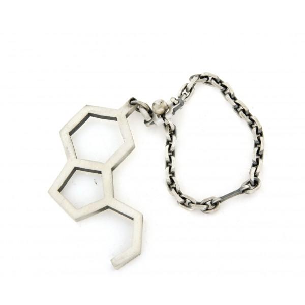 Porte clef argent molécule