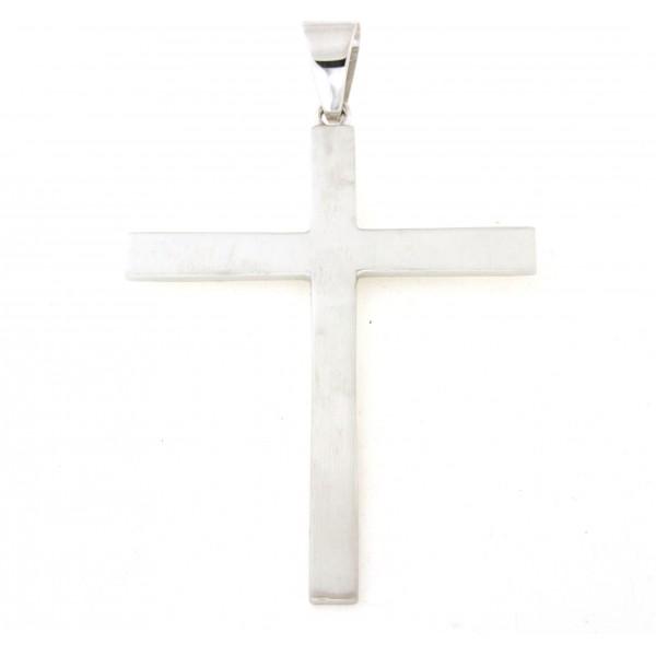 Croix argent massif 8cm