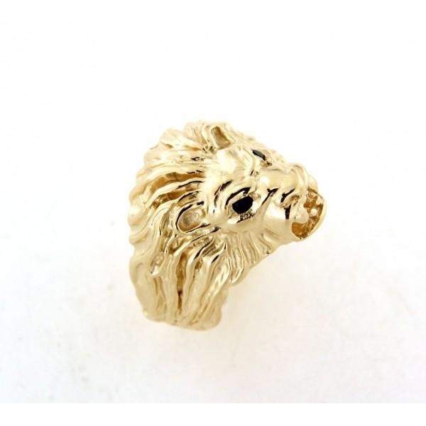 Chevalière lion en plaqué or