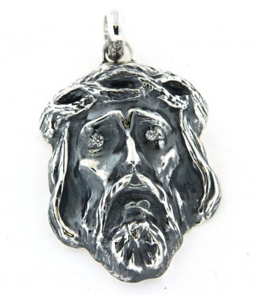 Pendentif Christ en argent avec oxydes