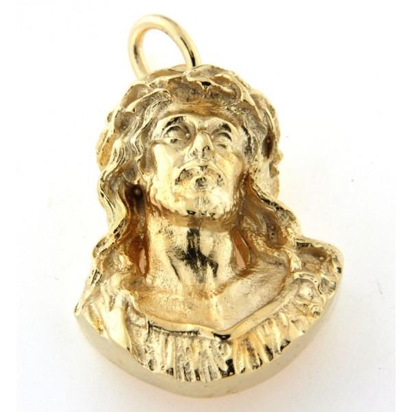 Pendentif buste du Christ en plaqué or