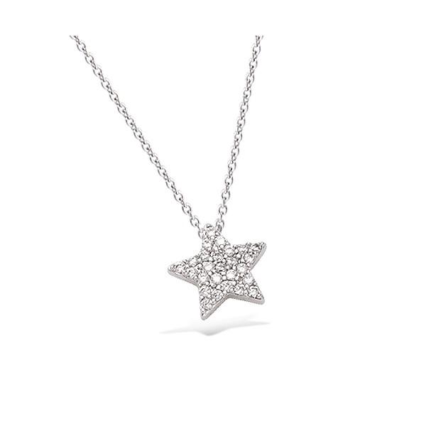 Collier en argent motif étoile