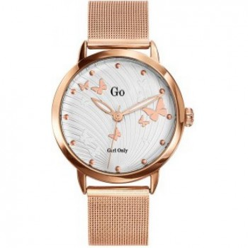 Montre Go milanais rose
