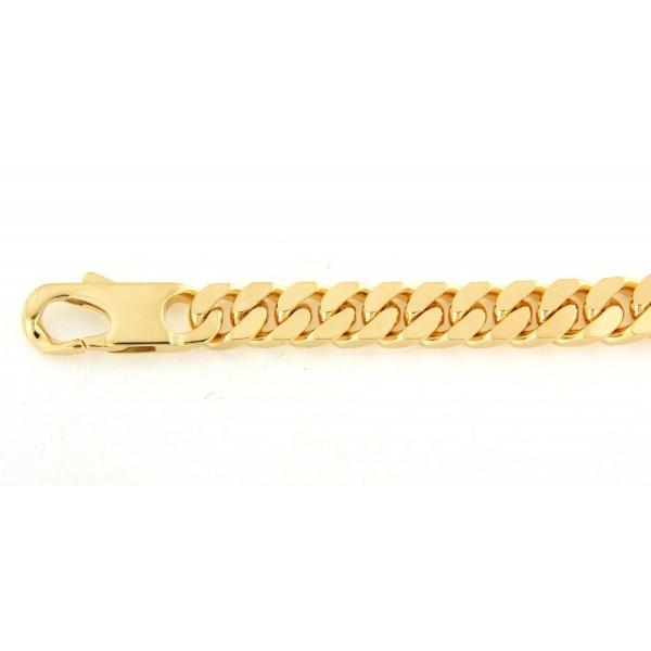 Bracelet maille serrée en plaqué or